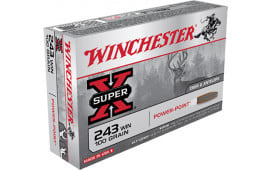 Winchester Ammo X2432 Super-X 243 Winchester 100 GR Power-Point - 20rd Box