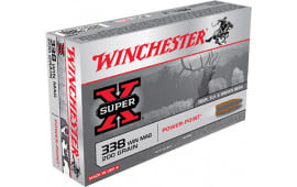 Winchester Ammo X3381 Super-X 338 Winchester Magnum 200 GR Power-Point - 20rd Box