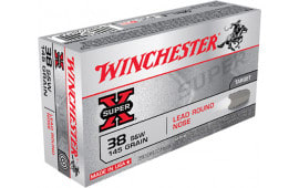Winchester Ammo X38SWP Super-X 38 Smith & Wesson (S&W) 145 GR Lead Round Nose - 50rd Box