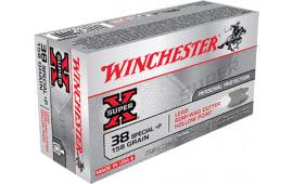 Winchester Ammo X38SPD Super-X 38 Special 158  GR Lead Semi-Wadcutter HP - 50rd Box