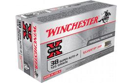 Winchester Ammo X38ASHP Super-X 38 Super 125  GR Silvertip HP - 50rd Box
