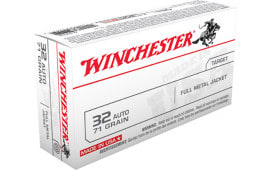 Winchester Ammo Q4255 Best Value 32 ACP 71 GR Full Metal Jacket - 50rd Box