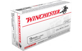 Winchester Ammo USA9MM1 Best Value 9mm Luger 147  GR Full Metal Jacket - 50rd Box