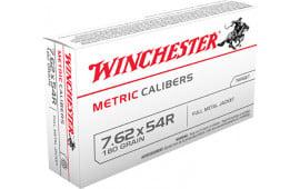 Winchester Ammo MC76254R Metric 7.62X54mm Russian 180 GR Full Metal Jacket - 20rd Box