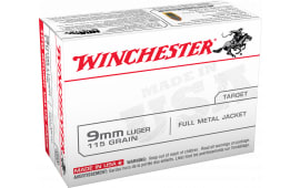 Winchester Ammo USA9MMVP Best Value 9mm Luger 115  GR Full Metal Jacket - 100rd Box