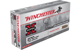 Winchester Ammo X270WSM Super-X 270 Winchester Short Magnum 150  GR Power-Point - 20rd Box