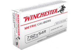 Winchester Ammo MC54RSP Metric 7.62X54mm Russian 180 GR Soft Point - 20rd Box