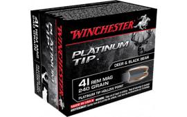 Winchester Ammo S41PTHP Supreme 41 Remington Magnum 240  GR Platinum Tip Hollow Point - 20rd Box