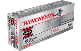 Winchester Ammo X223WSS Super-X 223 Winchester Super Short Magazine 55  GR Pointed Soft Point - 20rd Box