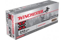 Winchester Ammo X243WSS Super-X 243 Winchester Super Short Magazine 100  GR Power-Point - 20rd Box