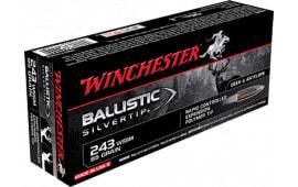 Winchester Ammo SBST243SSA Supreme 243 Winchester Super Short Magazine 95  GR Ballistic Silvertip - 20rd Box