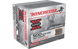 Winchester Ammo X500SW Super-X 500 Smith & Wesson 350  GR Jacketed Hollow Point - 20rd Box