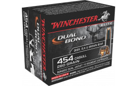 Winchester Ammo S454DB Elite 454 Casull 260  GR Dual Jacket Hollow Point - 20rd Box