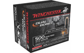 Winchester Ammo S500SWDB Elite 500 Smith & Wesson 375 GR Dual Jacket Hollow Point - 20rd Box
