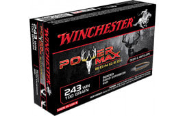 Winchester Ammo X2432BP Super-X 243 Winchester 100 GR Power Max Bonded - 20rd Box