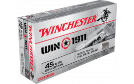 Winchester Ammo X45T Win1911 45 ACP 230  GR Full Metal Jacket - 50rd Box