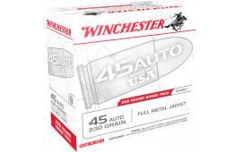 Winchester Ammo USA45W USA Centerfire 45 ACP 230  GR Full Metal Jacket - 200rd Box