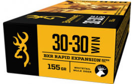 Browning Ammo B192130301 BXR Rapid Expansion 30-30 Win 155 GR Matrix Tip - 20rd Box