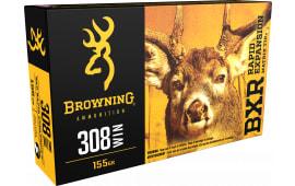 Browning Ammo B192103081 BXR Rapid Expansion 308 Win/7.62 NATO 155  GR Matrix Tip - 20rd Box