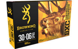 Browning Ammo B192230061 BXC Controlled Expansion 30-06 185  GR Terminal Tip - 20rd Box