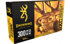 Browning Ammo B192203001 BXC Controlled Expansion 300 Win Mag 185  GR Terminal Tip - 20rd Box