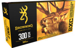Browning Ammo B192230001 BXC Controlled Expansion 300 WSM 185  GR Terminal Tip - 20rd Box