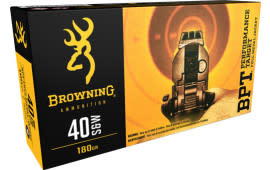 Browning Ammo B191800401 BPT Performance 40 Smith & Wesson 180  GR Full Metal Jacket - 50rd Box