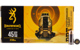 Browning Ammo B191800451 BPT Performance 45 ACP 230  GR Full Metal Jacket - 50rd Box