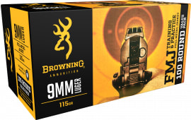 Browning Ammo B191800094 Training & Practice 9mm Luger 115  GR Full Metal Jacket - 100rd Box