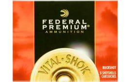 "Federal P108F00 Premium Vital-Shok 10 GA 3.5"" 18 Pellets 00 Buck Shot - 5sh Box"