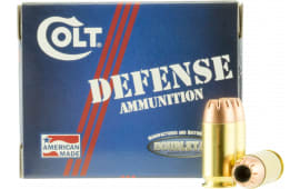 Colt Ammo 45A230CT Defense 45 ACP 230 GR Jacketed Hollow Point - 20rd Box