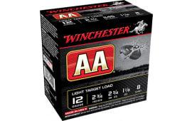 """Winchester Ammo AA128 AA Target Loads 12GA 2.75"""" 1-1/8oz #8 Shot - 25sh Box"""