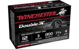 "Winchester Ammo STH1234 Double X Turkey 12GA 3"" 1-3/4oz #4 Shot - 10sh Box"