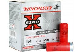"""Winchester Ammo XU12H7 Super-X Game & Field 12GA 2.75"""" 1-1/8oz #7.5 Shot - 250sh Case"""