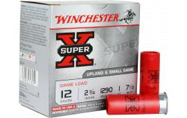 """Winchester Ammo XU127 Super-X Game & Field 12GA 2.75"""" 1oz #7.5 Shot - 250sh Case"""