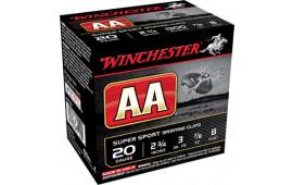 "Winchester Ammo AASC208 AA Target Loads 20GA 2.75"" 7/8oz #8 Shot - 250sh Case"
