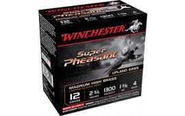 "Winchester Ammo X12P4 Super-X Pheasant 12GA 2.75"" 1-1/4oz #4 Shot - 250sh Case"