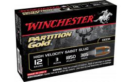 """Winchester Ammo SSP123 Supreme 12 GA 3"""" 385  GR Sabot Slug Shot - 5sh Box"""