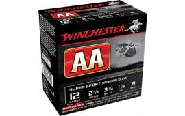 """Winchester Ammo AASC129 AA Target Loads 12GA 2.75"""" 1-1/8oz #9 Shot - 25sh Box"""