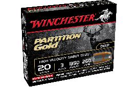 "Winchester Ammo SSP203 Supreme Partition Gold Slug 20GA 3"" 260 GR Sabot Slug Shot - 5sh Box"