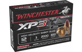 """Winchester Ammo SXP123 Supreme Elite XP3 12GA 3"""" 300 GR Slug Shot - 5sh Box"""