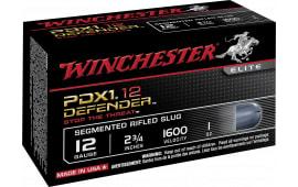 "Winchester Ammo S12PDX1S Elite PDX1 Defender 12GA 2.75"" 1oz 3 - 150 Grain Pieces Shot - 10sh Box"