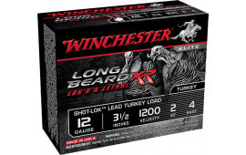 "Winchester Ammo STLB12L4 Long Beard XR Shot-Lok Turkey 12GA 3.5"" 2oz #4 Shot - 10sh Box"