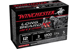 "Winchester Ammo STLB1235 Long Beard XR Shot-Lok Turkey 12GA 3"" 1-3/4oz #5 Shot - 10sh Box"