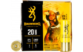 "Browning Ammo B193512025 BXD Extra Distance Upland 20GA 2.75"" 1oz #5 Shot - 250sh Case"
