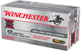 Winchester Ammo X22LR Super-X 22 Long Rifle (LR) 40 GR Lead Round Nose - 50rd Box