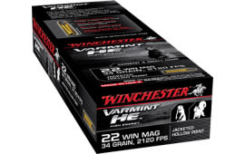 Winchester Ammo S22WM Supreme 22 WMR 34 GR Jacketed Hollow Point - 50rd Box