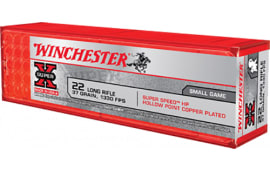 Winchester Ammo X22LRHSS1 Super-X 22 Long Rifle 37 GR Hollow Point - 100rd Box
