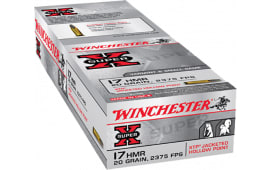 Winchester Ammo X17HMR1 Super-X 17 Hornady Magnum Rimfire (HMR) 20 GR Jacketed Hollow Point - 50rd Box