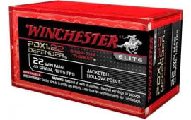 Winchester Ammo S22MPDX1 Elite 22 WMR 45 GR Jacketed Hollow Point - 50rd Box